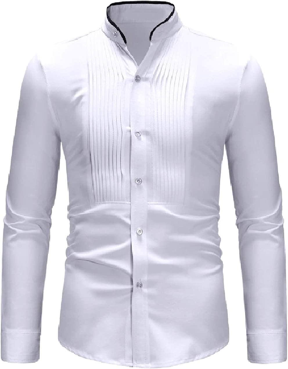 Winwinus Mens Stylish No-Iron Slim Fitting Long Sleeve Western Shirt