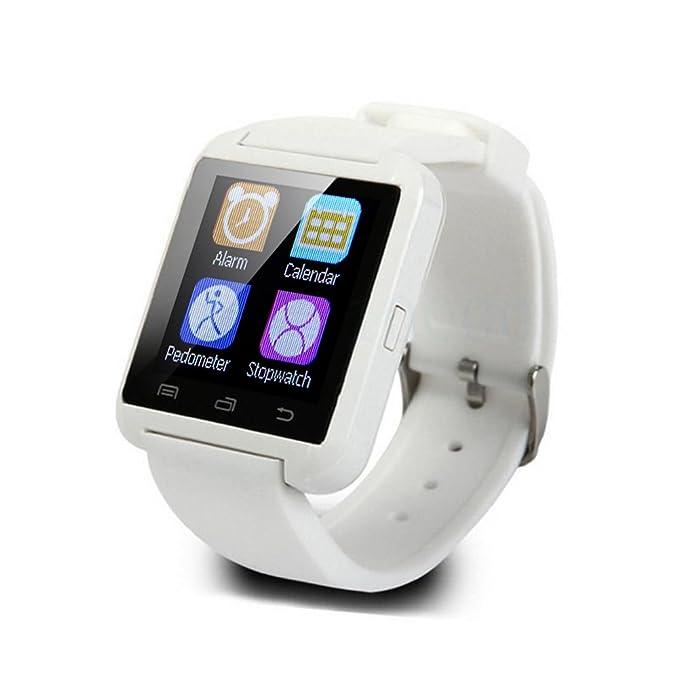 Reloj Inteligente U8 Bluetooth Soporte Smart Watch Reloj de Pulsera, Reloj Deportivo con Podómetro,