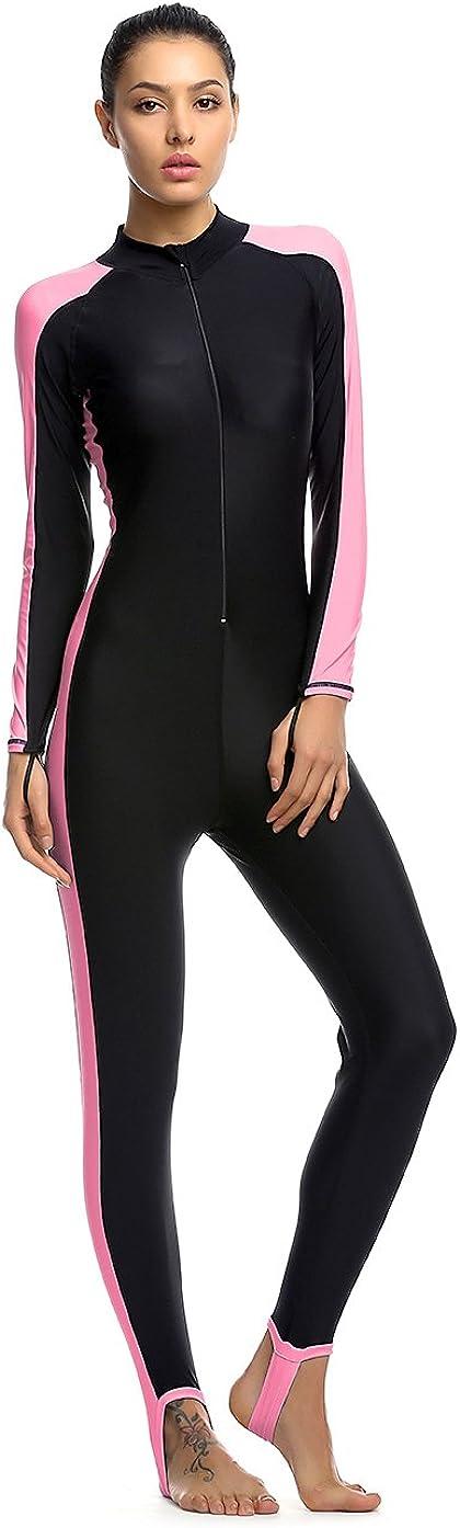OUO Damen UV Schutz Wetsuit Badeanzug Badebekleidung Wassersport Anzug Short neu