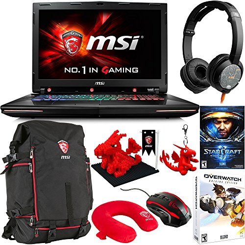 "Price comparison product image MSI GT72S G Tobii-805 17.3"" Gaming Laptop - Core i7-6820HK Skylake, GTX 980M 8GB VRAM G-SYNC, 32GB RAM, 1TB HDD, 256GB SSD + Gaming Bundle"