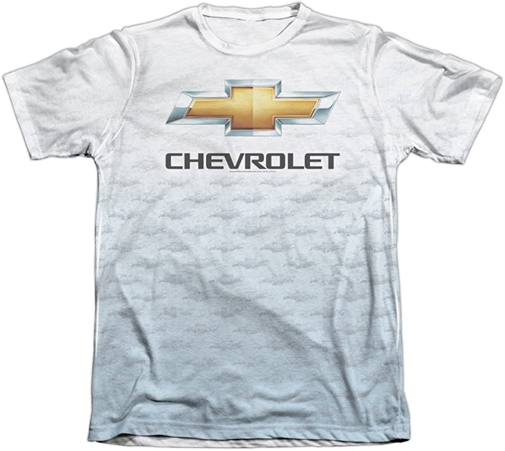 Chevrolet CHROME VINTAGE CHEVY BOWTIE Licensed Adult Long Sleeve T-Shirt S-3XL
