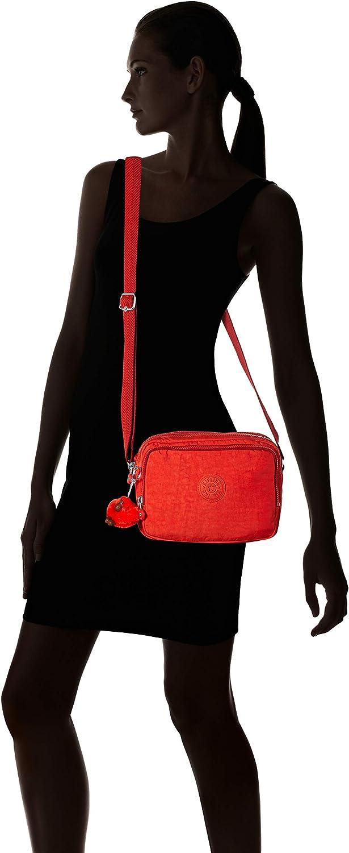 Kipling Damen Silen Umhängetasche, weiß/blau, 24x18x11 cm Rot (Active Red)