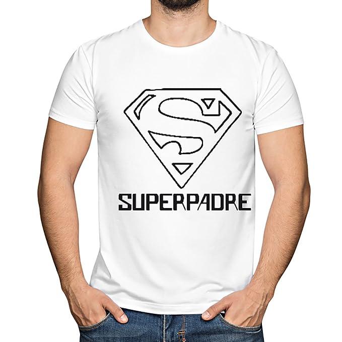 Camiseta Superpadre en Todas Las Tallas - Regalo Original para Padres: Amazon.es: Ropa y accesorios