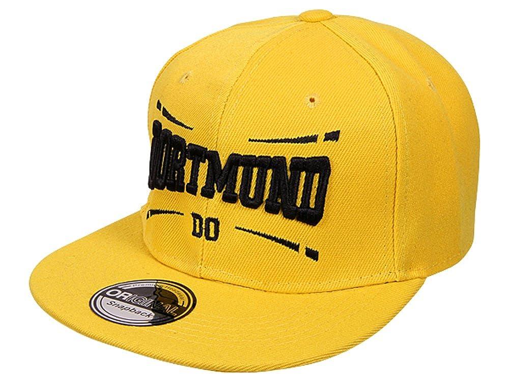 Cappy Baseballcap Dortmund Hip Hop Schirmm/ütze M/ütze K/äppi Schwarz Gelb Streetware