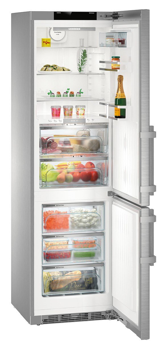 Liebherr Cbnpes 4858 Freestanding 344L A + + + Stainless Steel Fridge And  Freezer   Freestanding Fridge Freezer, Stainless Steel, Right, Touch, TFT,  ... Photo