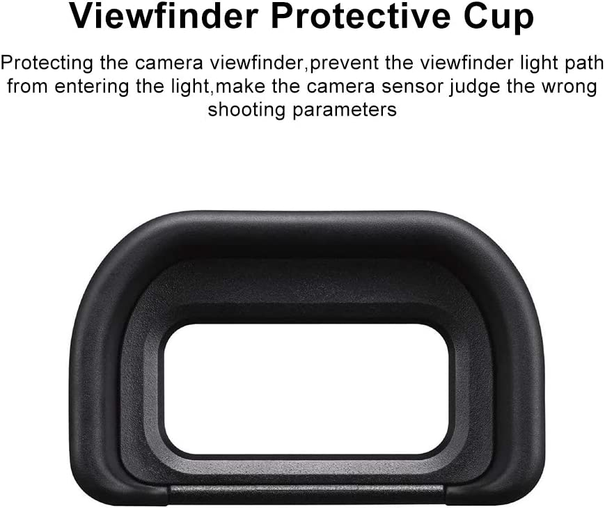 RENYD Camera Rubber Viewfinder Eyecup Eyepiece Protector FDA-EP17 Replacement for Sony Alpha A6600 A6500 A6400 ILCE-6500 ILCE-6400 Protective Waterproof 3 Packs