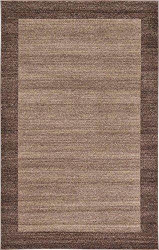 Unique Loom Del Mar Collection Contemporary Transitional Light Brown Area Rug (5' 0 x 8' 0) ()
