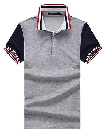Saoye Fashion Polo para Hombre Polo De Manga Corta con Solapa Ropa ...