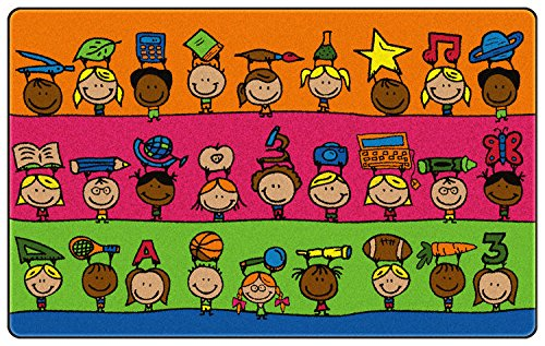 Fun at School Kids Area Rug 3'x5'