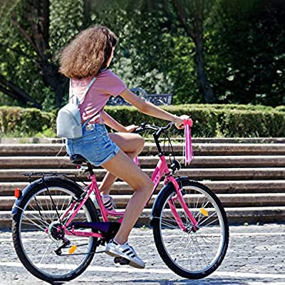 Garneck Children Bike Streamers Scooter Bicycle Handlebar Ribbon Handgrip Bowknot Streamers Long Tassel Ribbon for Trike Baby Carrier Decoration (Pattern 3) : Sports & Outdoors