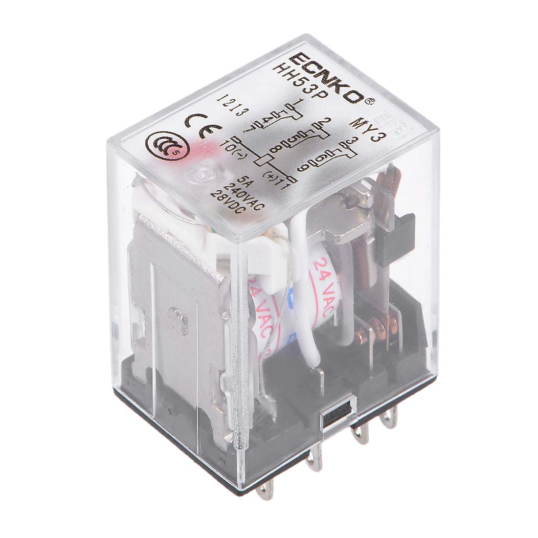 uxcell HH53P AC 24V Coil 3P3T 11 Pins Electromagnetic Power Relay Red LED