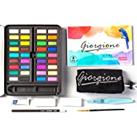 Aquarelverfset 36 Levendige Kleuren Met Waterpenseel Pen Aquarel Papier Kit Voor Volwassenen Studenten Beginners