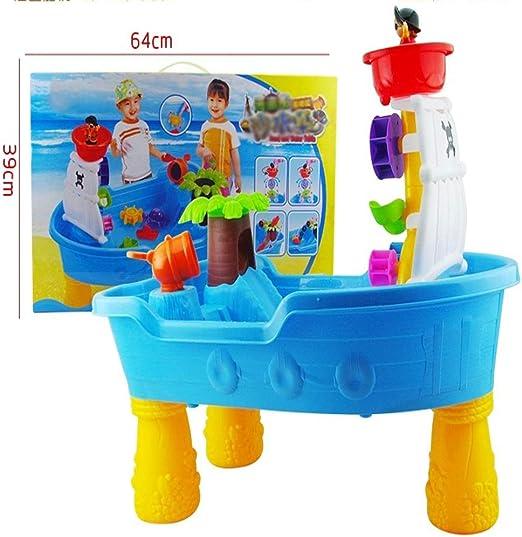 Juegos Interactivos De Agua, Juego De Mesa del Agua del Barco Pirata Niños Diversión/Exterior Playa Conjunto De Juguete: Amazon.es: Hogar