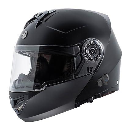 46072153 Amazon.com: TORC TB27 Full Face Modular Helmet with Integrated Blinc  Bluetooth (Flat Black, Large): Automotive