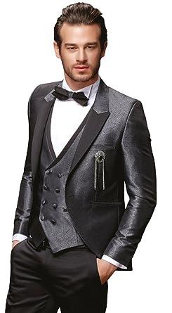 Herren Anzug 8 Teilig Konigsblau Oder Grau Schwarz Designer