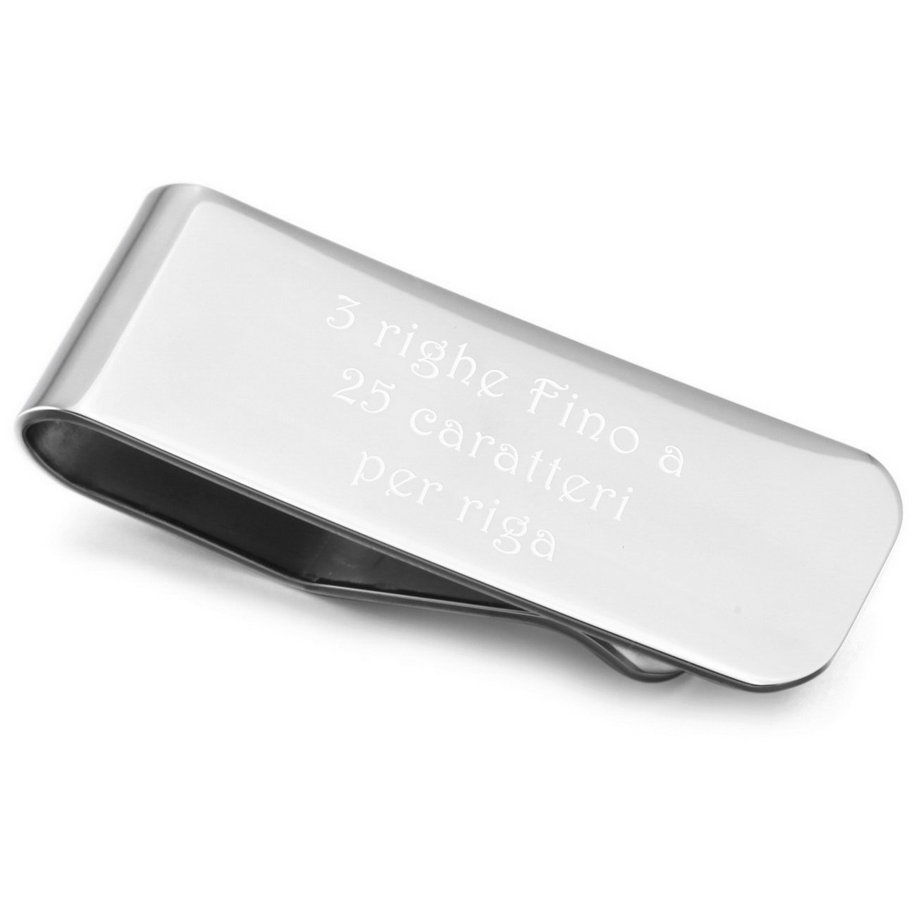 MeMeDIY Stainless Steel Money Clip - Personalizzato Incisione it3010054-2