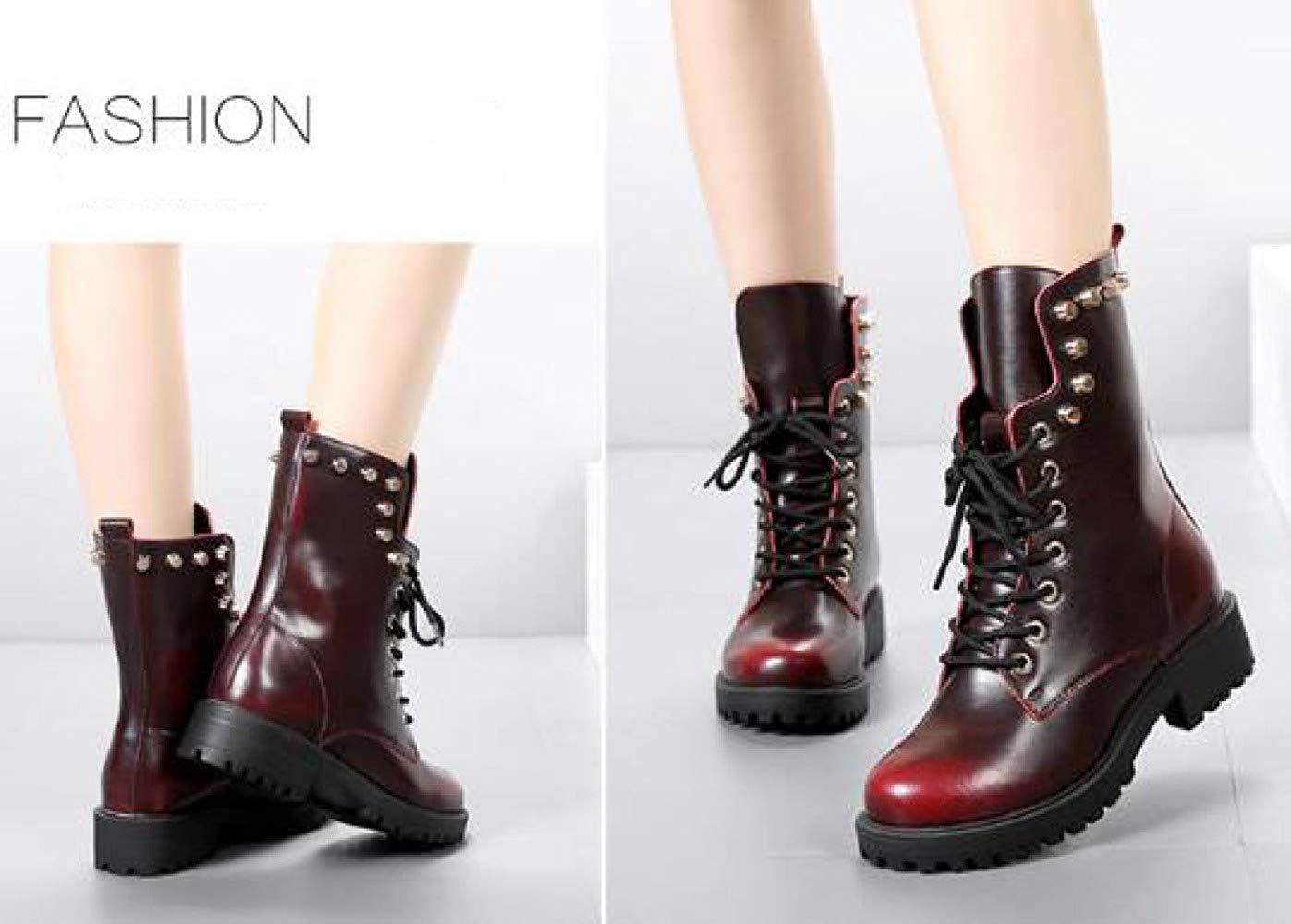 Qiusa Qiusa Qiusa Herbst Und Winter Leder Mode Martin Stiefel Warme Schuhe (Farbe   4 Größe   42EU) 43676c