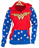DC Comics Wonder Woman Foil Logo Juniors Zip-Up Hoodie Sweatshirt