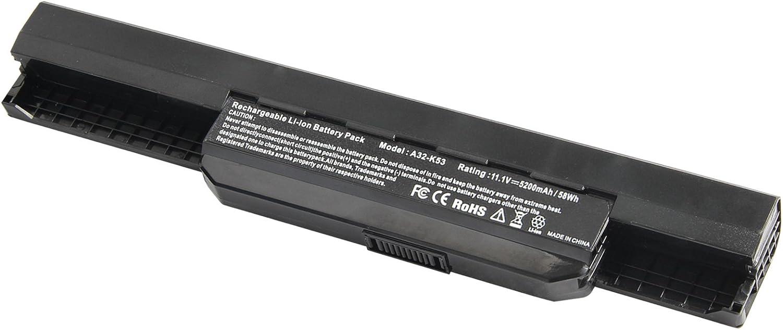 ARyee 5200mAh batería del Ordenador portátil para ASUS A31-K53 A32-K53 A41-K53 A42-K53 K43 K53 X43 A83 A84 K54 K84 P43 P53: Amazon.es: Electrónica