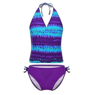 YiZYiF Traje de Baño Dos Piezas para Niñas Chicas Bikini ...