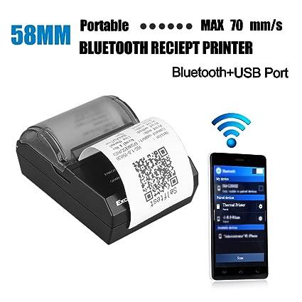 Excelvan 58 mm Impresora térmica de Ticket conectada ...