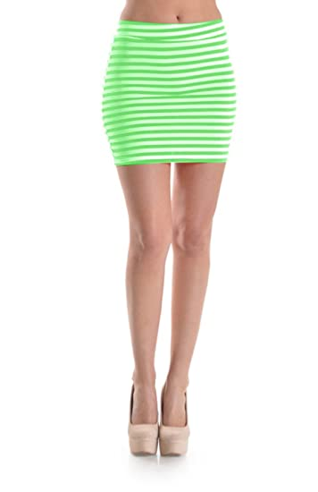 40LUV Women's Striped Patterned Body Conscious Mini Skirt At Amazon Magnificent Patterned Mini Skirt