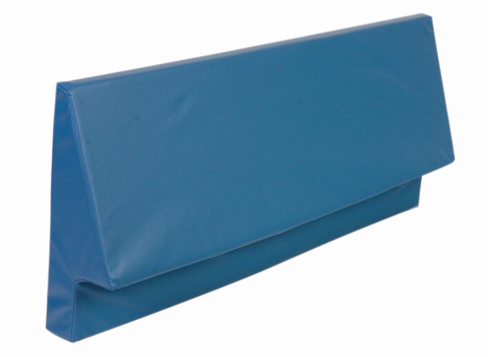 AliMed Bed Rail Bumper Wedges, Upholstered Foam, Bed Bolster, 48''L, Pair