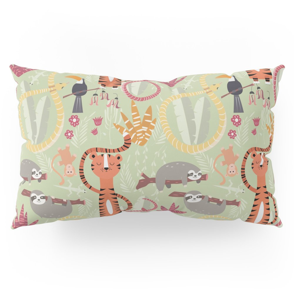 Society6 Rain Forest Animals 004 Pillow Sham King (20'' x 36'') Set of 2