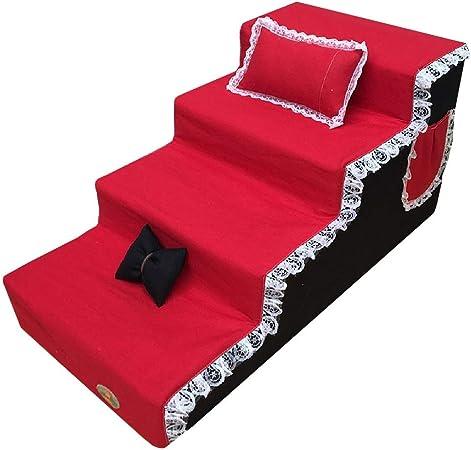 Escalera de Mascota Escaleras for Perros de 4 peldaños for sofá Alto for Perros medianos |Escaleras de rampa Acolchadas portátiles for Mascotas for Perros y Gatos »Wiki ÙtilFunda Lavable a máquina: Amazon.es: