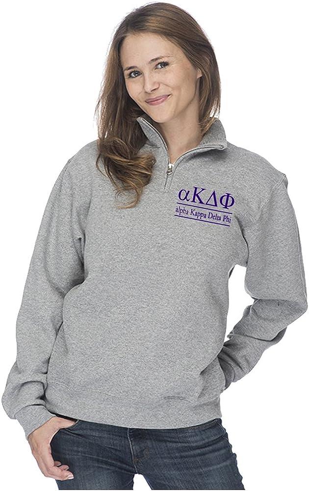Alpha Kappa Delta Phi Quarter Zip Pullover Sweatshirt