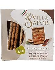 Villa Sapori - Schiacciatina Ecológica con Espelta y Trigo Sarraceno, caja de 1,2