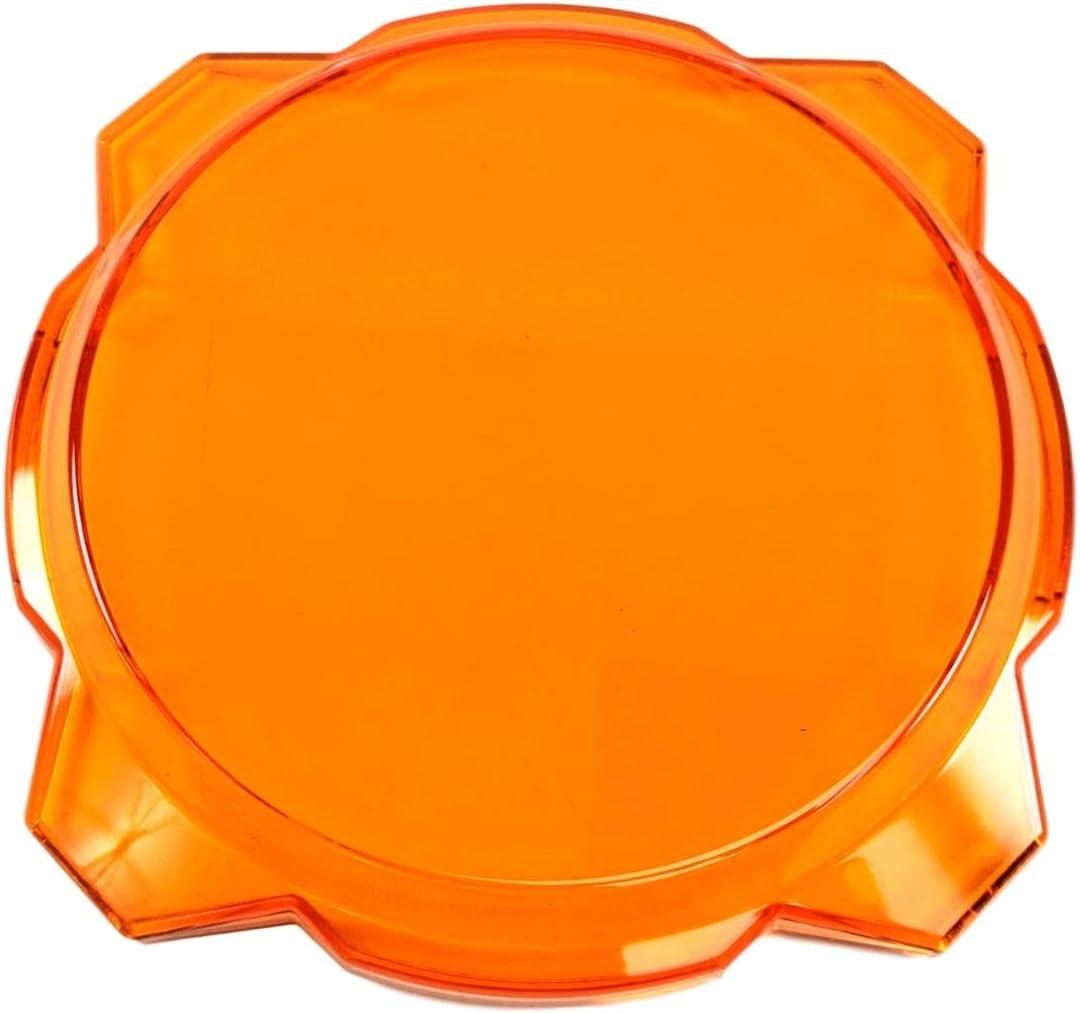 KC Hilites 5112 Gravity LED Pro6 Light Shield Cover 6 In Amber Gravity LED Pro6 Light Shield Cover