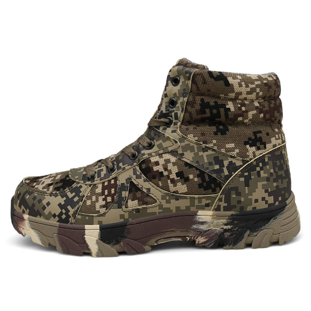 QIKAI Taktische Stiefel Stiefel Stiefel Wasserdicht Plus Kaschmirstiefel Große Tarnungs-Wüstenstiefel Warme Militärstiefel Der Spezialeinheiten 0641a1