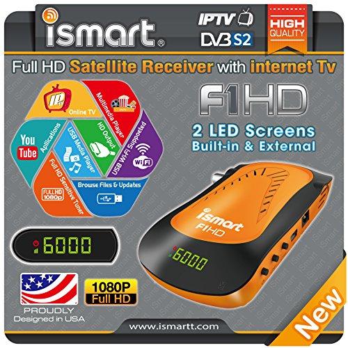 iSmart F1 HD DVB-S2 with IPTV - Hybrid Full HD FTA Satellite Receiver