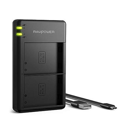 EN-EL14 Battery Charger RAVPower Dual USB Charger Compatible with Nikon D5600, D5500, D5100, D3400, D3300, Coolpix, P7000, P7100, Cameras