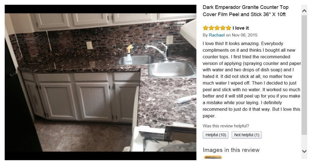 Amazon.com: Granite Countertop Dark Emperador Granite Self Adhesive Vinyl  Granite 36 Inches W X 144 Inches L: Kitchen U0026 Dining