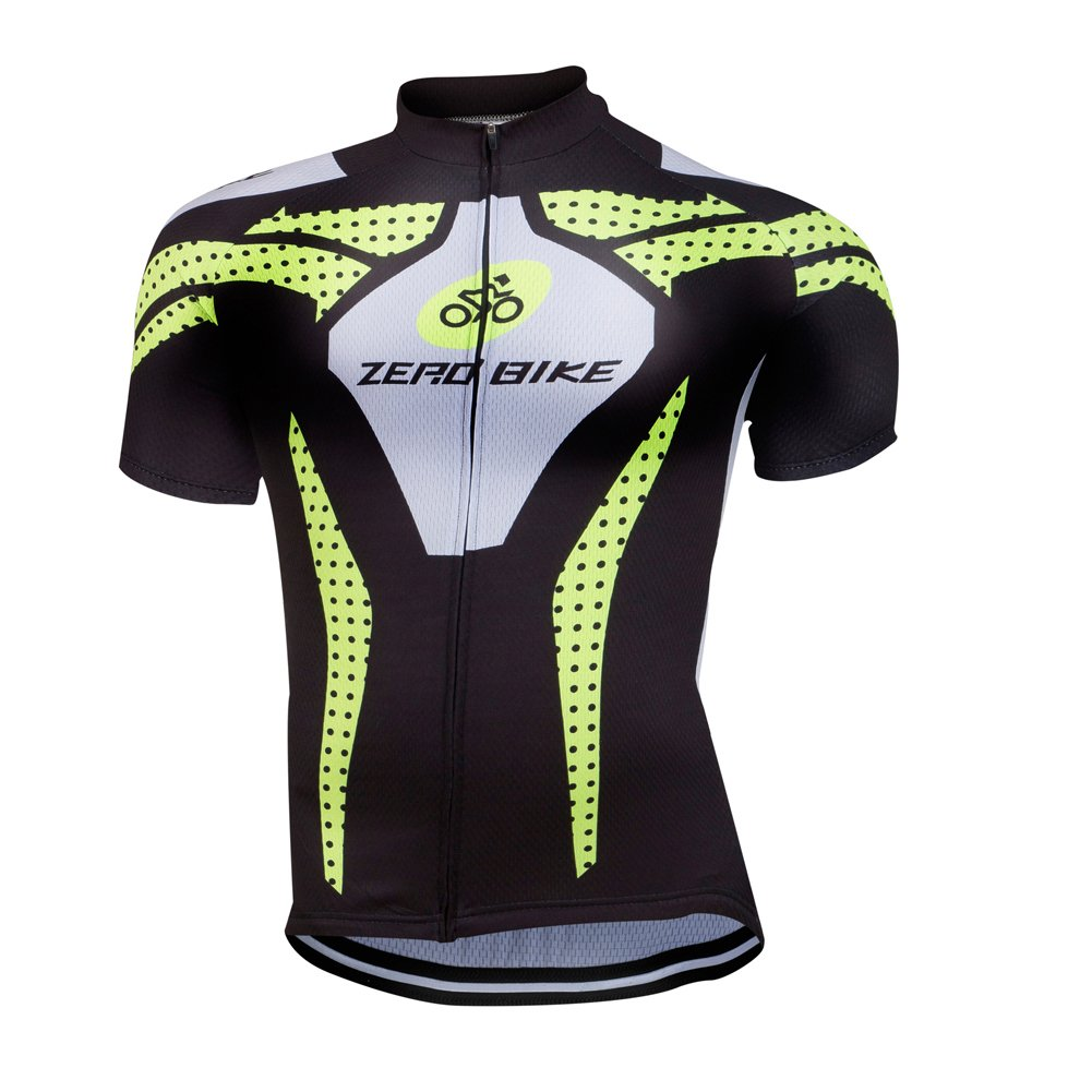 ZEROBIKE Mens Cycling Short Sleeve Jersey Comfortable Breathable Shirts Sportswear Clothing Bike Top Quick Dry