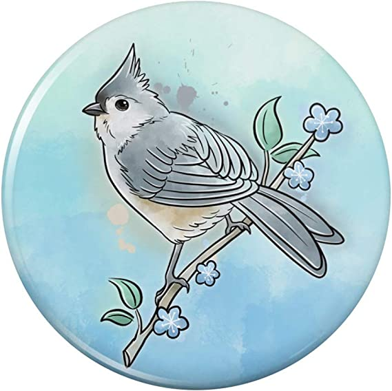 Blue Jay Watercolor Northeastern Bird Kitchen Refrigerator Locker Button Magnet