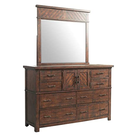 Amazon.com: Picket Casa Mobiliario Dex 8 cajón Dresser ...