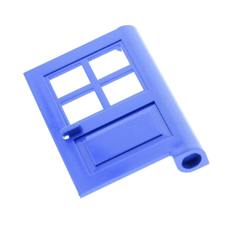 1 x Lego System Tür Blatt blau 1 x 4 x 5 mit 4 Scheiben Ausschnitte Haus Garten