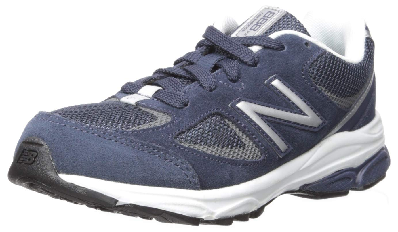 New Balance Boys' 888v2 Running Shoe, Navy/Grey, 2.5 M US Little Kid