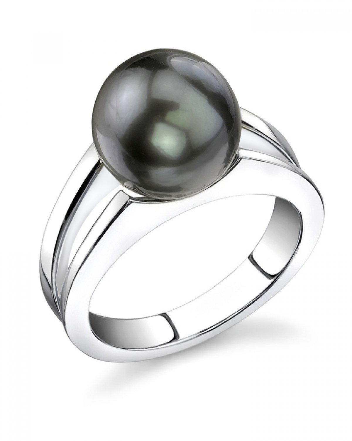 THE PEARL SOURCE 10-11mm Genuine Black Tahitian South Sea ...