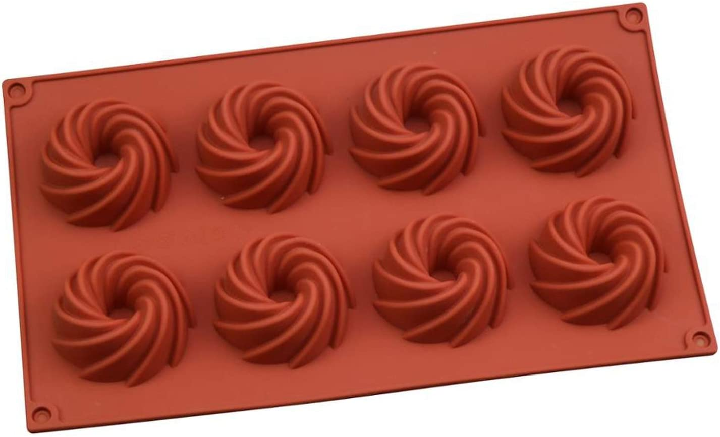 Magdalenas Moldes Corona dona silicón moldea hornada de la torta de chocolate Herramientas Herramientas de azúcar que adorna caramelo Muffin molde de repostería para hornear sartenes, 8 Spril Donut,: Amazon.es: Hogar