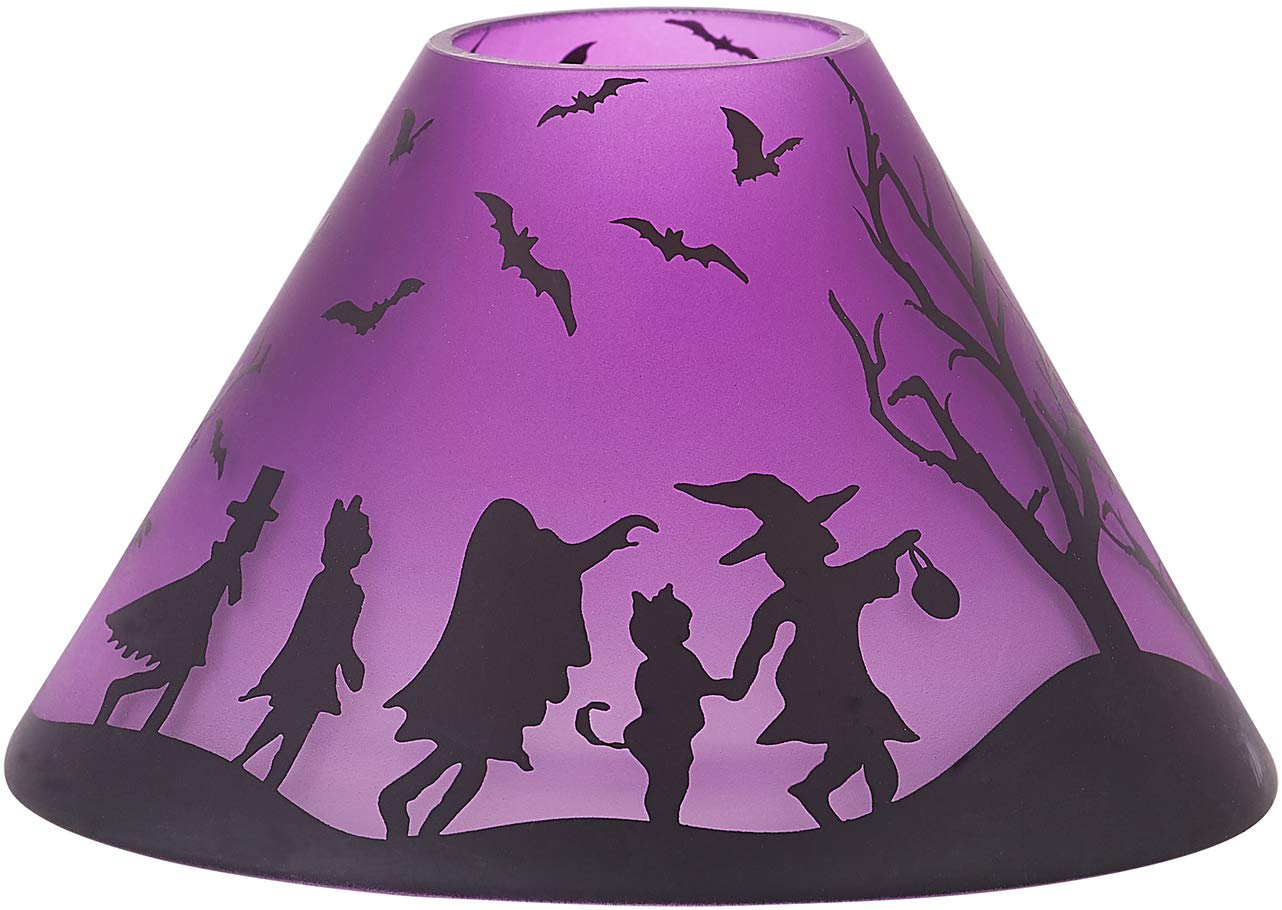 Pavilion Gift Company Purple Halloween Themed Glass 22 oz Jar Large Candle Shade