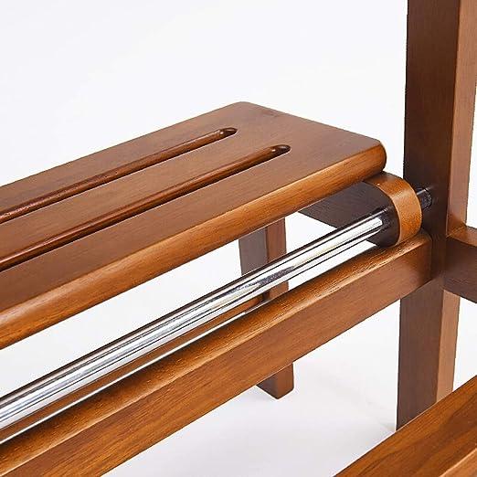 XuQinQin Taburete de madera maciza Banco de zapatos ...