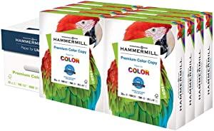 Hammermill Premium Color Copy 32lb Paper, 8.5x11, 8 Ream Case, 4,000 Sheets, Made in USA, Sustainably Sourced From American Family Tree Farms, 100 Bright, Acid Free, Color Copy Printer Paper,102630C