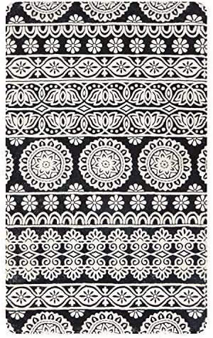 Mandala Collection Area Rug 4 X 6 , KIMODE Vintage Soft Faux Wool Area Rug Accent Distressed Non-Slip Machine Washable Indoor Throw Rugs Floor Carpet for Bedrooms Living Room Laundry Room Home D cor