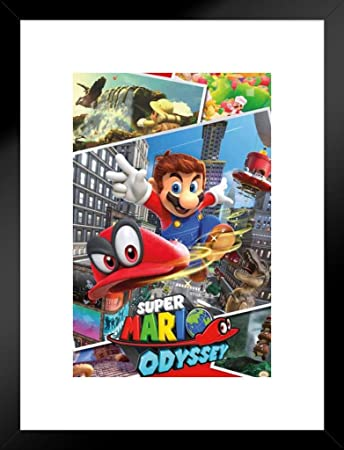 Super Mario Odyssey Video Game Gaming Matted Framed Poster 20×26 inch
