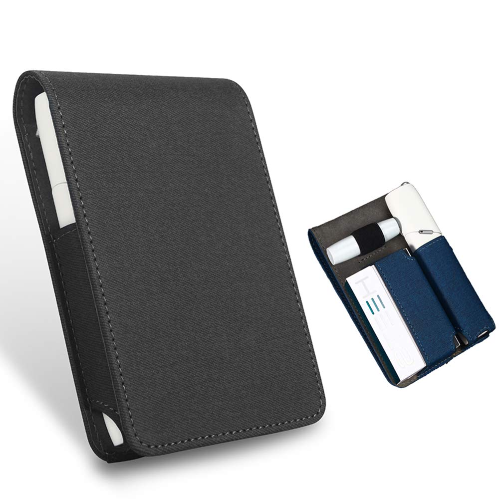 Electronic Cigarette Cover,Iqos 3 Multi Leather Case Protective Case Cigarette Storage Case Japanese Electronic Cigarette 3.0 Fourth Generation New,Black