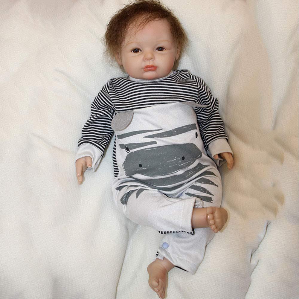tienda de descuento LUCKYFANWU Simulación de Vinilo de Silicona Silicona Silicona Suave Realista renace muñeca bebé Realista mira recién Nacido muñeca bebé Real Similar  Las ventas en línea ahorran un 70%.